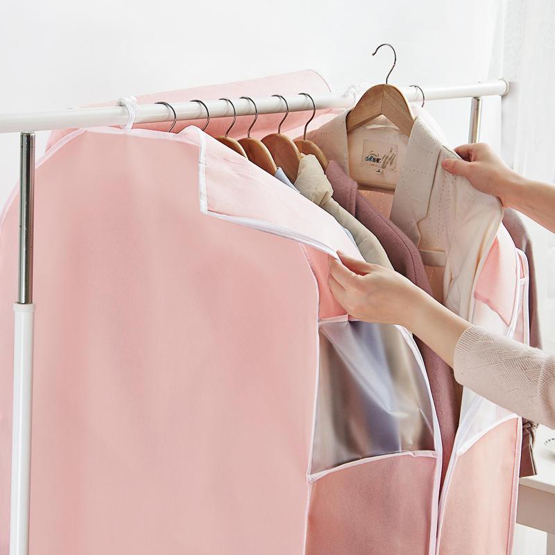 韓式衣物防塵套 立體印花掛衣袋防塵袋 西服大衣收納衣服罩防塵罩1入