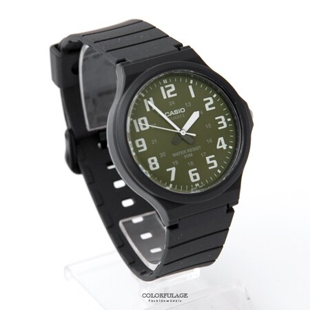 CASIO 簡約清晰數字夜光石英手錶