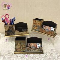 鄉村風zakka雜貨到歐風鄉村風法式浪漫彩繪名片文具收納盒-小熊系列~【築巢傢飾】