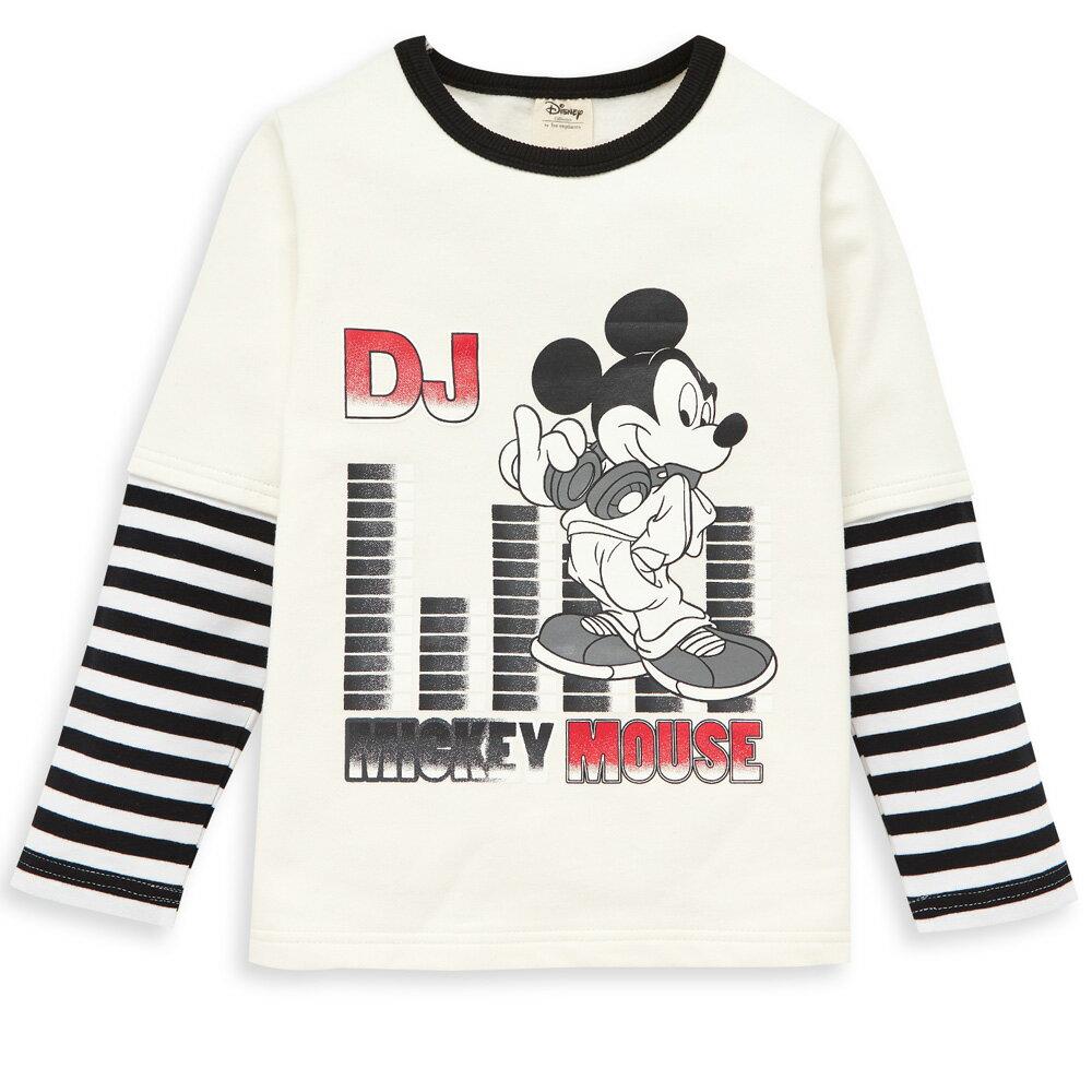 Disney 米奇系列米奇DJ假二件式上衣-白色 - 限時優惠好康折扣
