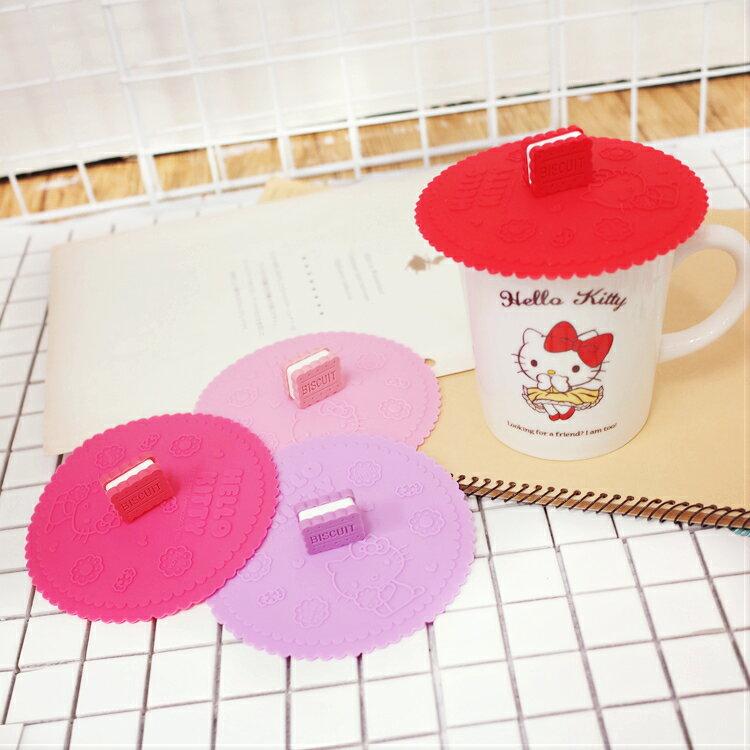 PGS7 三麗鷗系列商品 - Kitty 餅乾 造型頭 防漏 杯蓋【SEM7894】