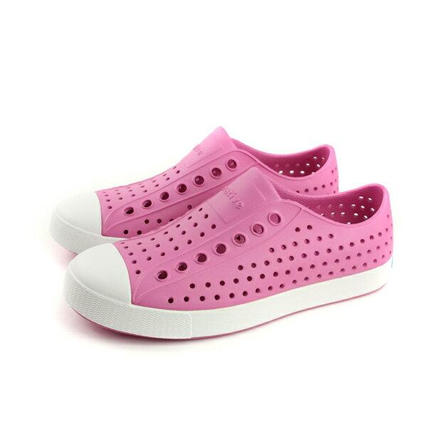 nativeJEFFERSON懶人鞋洞洞鞋防水雨天女鞋粉紅色11100100-5670no734