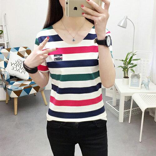 韓版條紋短袖T恤(2色M~XL)*ORead*