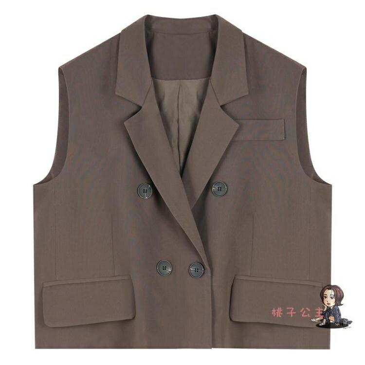 西裝馬甲女 2020早秋穿搭西裝馬甲女士秋季外搭背心外套寬鬆 氣質職場西服馬甲