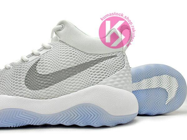 2016 中價位籃球鞋款 NIKE ZOOM REV EP 全白 白銀 HYPERFUSE 鞋面科技 + ZOOM AIR 氣墊 XDR 耐磨橡膠外底 輕量化 籃球鞋 (852423-100) 0117 3