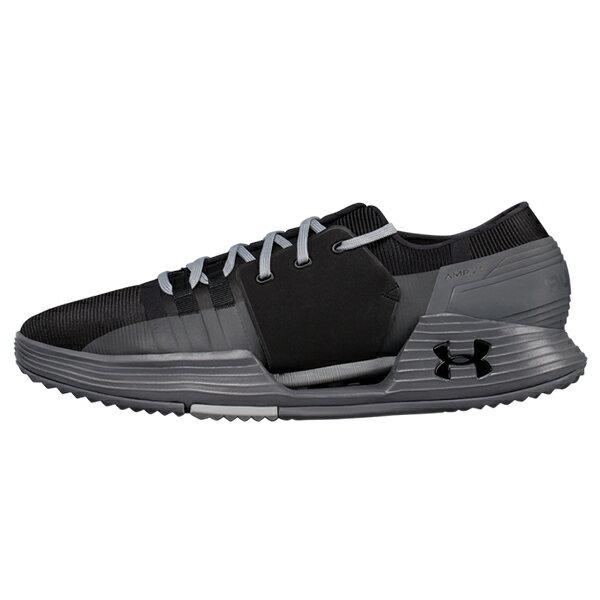 Shoestw【1295773-003】UNDER ARMOUR UA  AMP 2.0 訓練鞋 拼接 黑灰色 男生