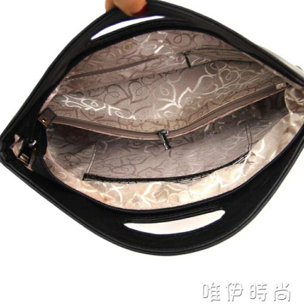 手提包 手拿包女包大容量簡約手提包新款折疊女士手包小包手抓斜跨包 唯伊時尚