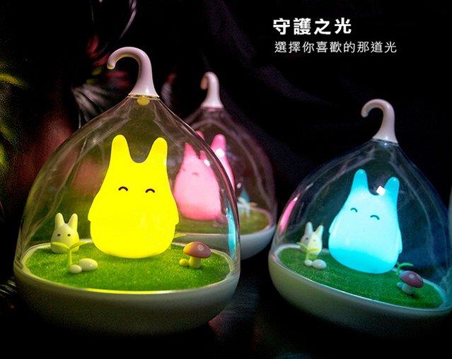 簡約 小精靈 小夜燈 小老鼠 貓咪不是 龍貓交換禮物首選 創意童話小精靈LED微景觀夜燈 龍貓燈 籠燈 小夜燈 禮物
