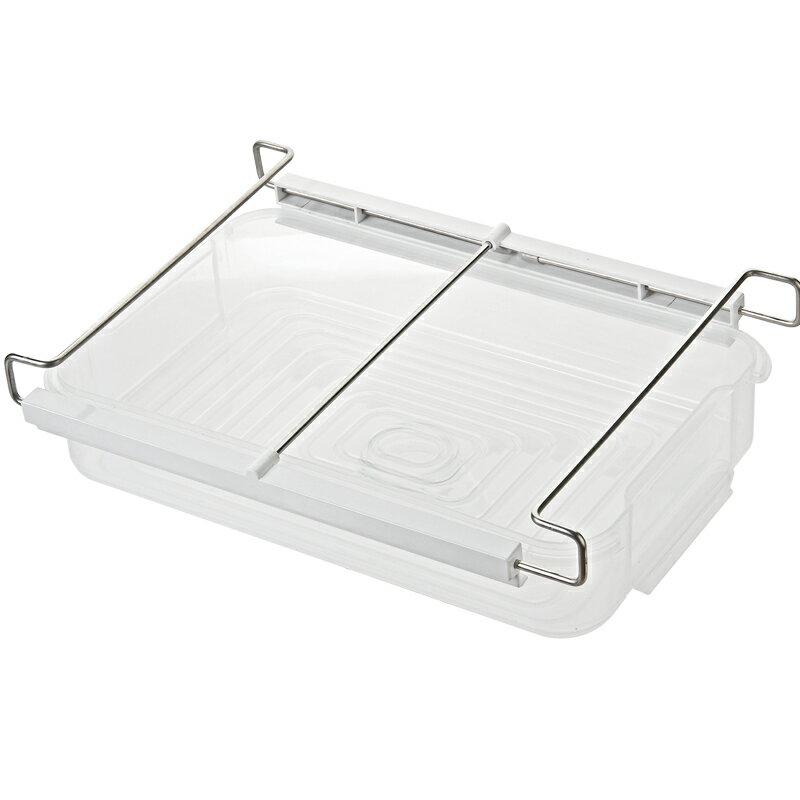 透明塑料儲存保鮮盒 冰箱抽屜式隔層掛架分層 廚房水果食物收納