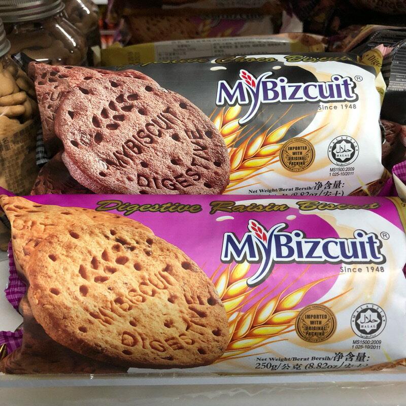 麥比克 葡萄乾/ 巧克力經典消化餅 250g 葡萄消化餅 巧克力消化餅
