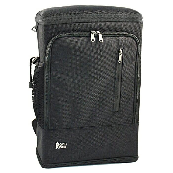 PackChair椅子包 盾牌包 防身包 電腦包 後背包 自助旅行包 黑色有胸扣版 4