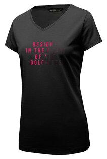 【Salewa德國】SLASH快乾T恤V領短袖T恤運動T恤機能衣漆黑色女款27021-0936