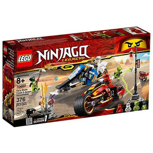 樂高LEGO 70667  NINJAGO 旋風忍者系列 -赤地的刀鋒轉輪車及冰忍的雪地摩托車 - 限時優惠好康折扣