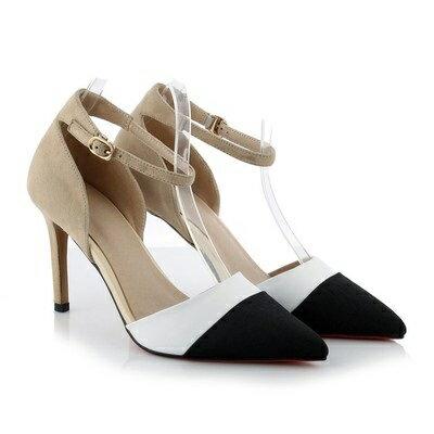 <br/><br/> ☆尖頭高跟鞋真皮細跟單鞋 -時尚精美撞色造型女鞋子2色73iw52【獨家進口】【米蘭精品】<br/><br/>