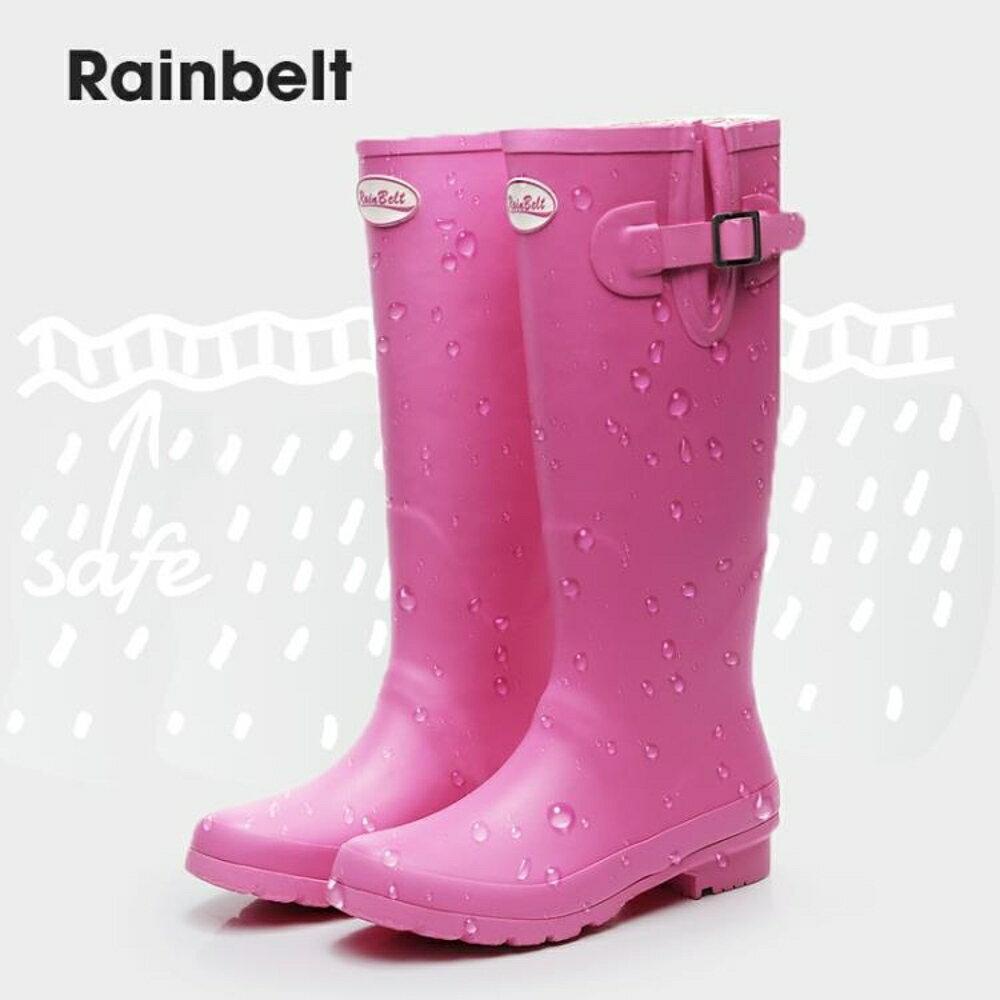 雨鞋 歐美英倫雨靴女冬雨鞋保暖女士成人高筒雨靴橡膠雨鞋時尚防水膠靴 薇薇