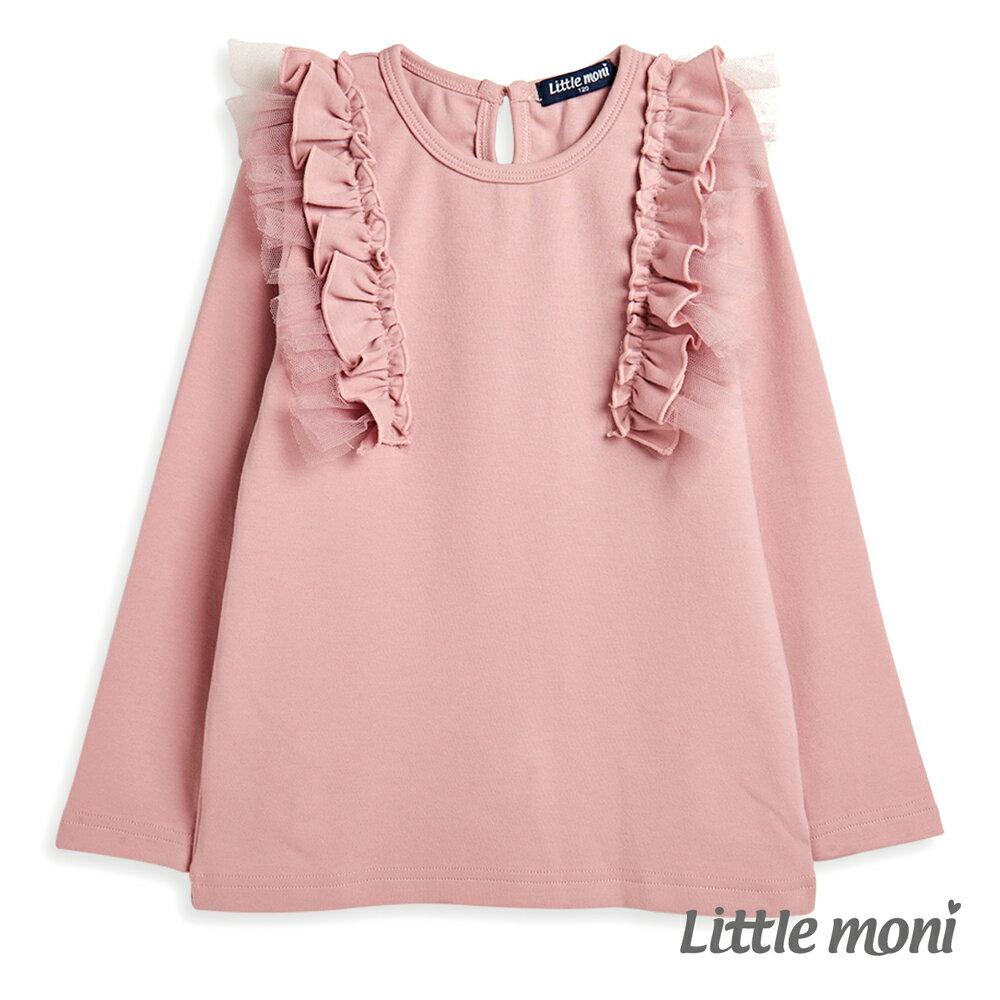 Little moni 肩袖荷葉上衣-粉紅(好窩生活節) 0