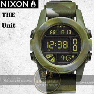 NIXON 實體店The UNIT雙時區潮流迷彩運動錶A197-1727公司貨/極限運動
