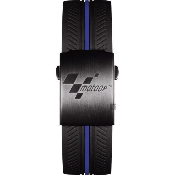全球限量5000只 TISSOT 天梭 T-RACE MOTOGP 2017限量版賽車錶-黑x藍 / 45mm T0924173706100 4