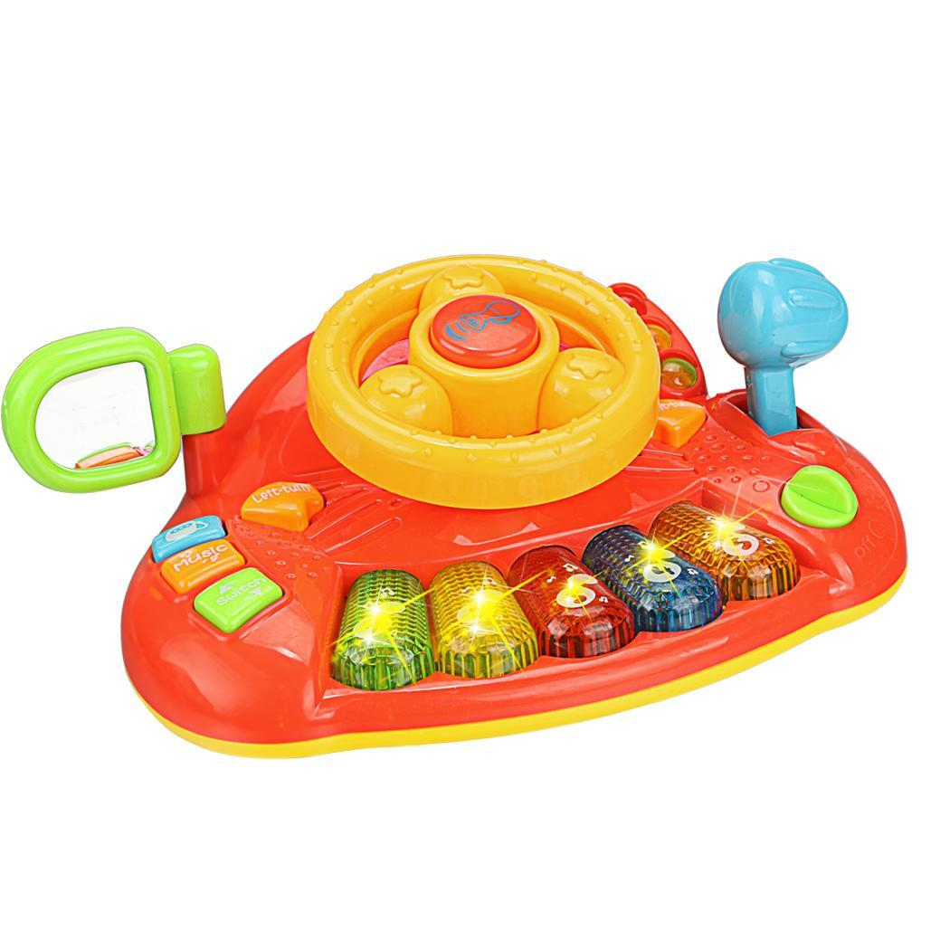 Educational Development Learn and Discover Driver Toy Plastic Steering Wheel Keyboard 1