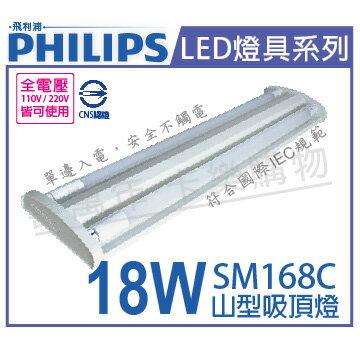 PHILIPS飛利浦SM168CLED18W4000K自然光全電壓2尺山型吸頂燈_PH430435