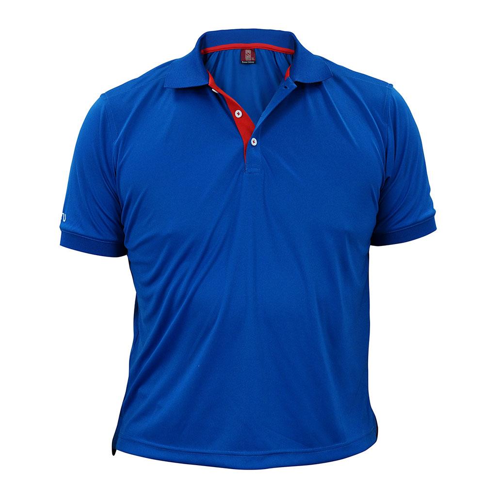 酷炫吸濕排汗POLO衫-青色 ◆NU旗艦店◆
