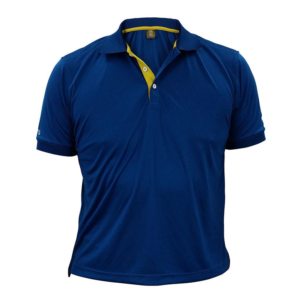 酷炫吸濕排汗POLO衫-深藍 ◆NU旗艦店◆