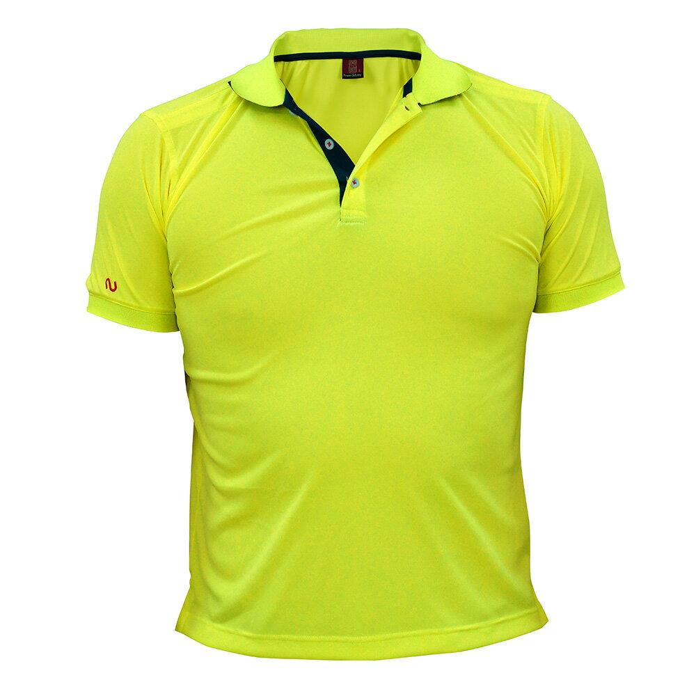 酷炫吸濕排汗POLO衫-黃色 ◆NU旗艦店◆
