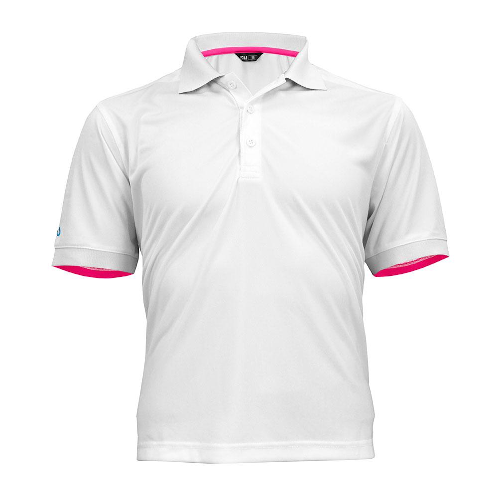 酷炫吸濕排汗POLO衫-白色 ◆NU旗艦店◆
