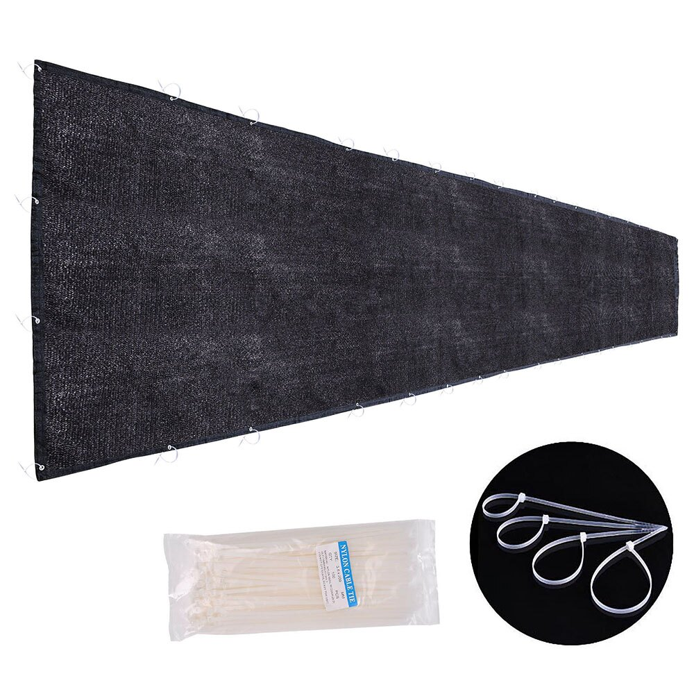 8690c40a0 Flat Privacy Fence Screen Mesh 25x6' 180gsm Virgin HDPE Black For 6ft Tall  Fencing Fabric