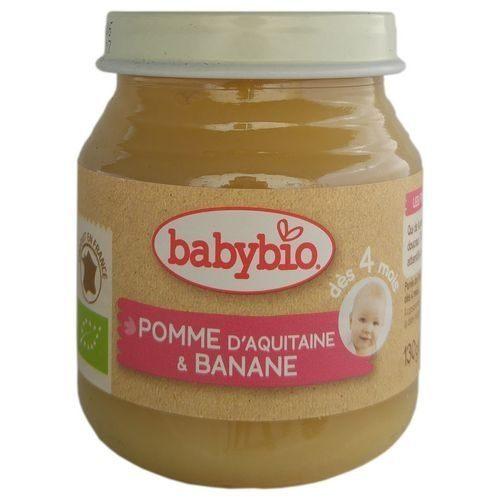 『121婦嬰用品館』法國 Babybio 有機蘋果香蕉鮮果泥(130g/4M+) 0