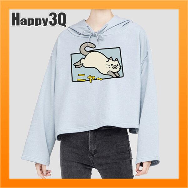 貓咪印花T卡通T-SHIRT暹羅貓寬鬆T短袖T日本原宿風簡約可愛印花T-米黑藍粉【AAA3971】