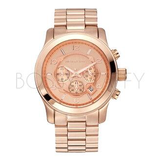 MK8096 MICHAEL KORS 圓形錶盤玫瑰金三眼計時中性錶 男女錶 手錶