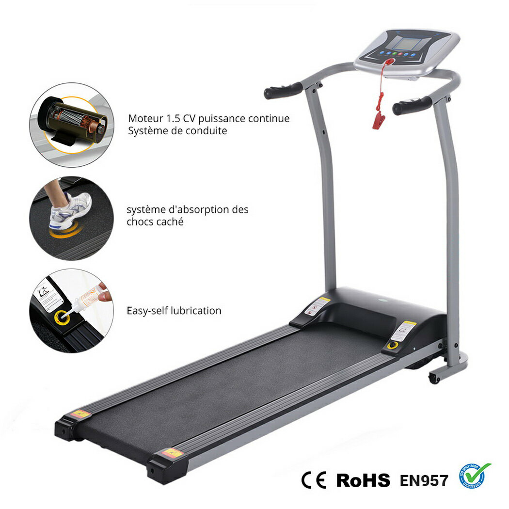 Ancheer Mini Folding Electric Running Training Fitness Treadmill 6