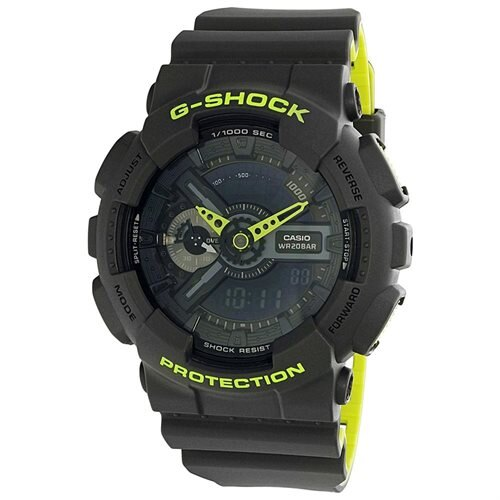 Casio Men's G Shock GA110LN-8A Grey Rubber Quartz Sport Watch 0