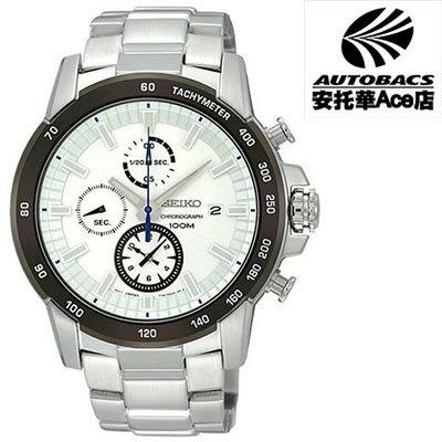 【SEIKO男錶】Criteria 宇宙競速計時腕錶-銀白 7T92-0MA0S(720393)