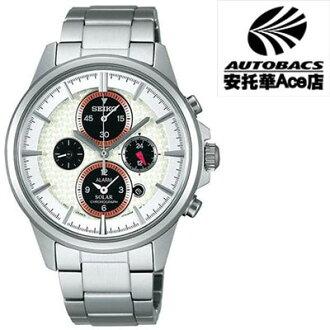 【SEIKO男錶】王者之劍太陽能鬧鈴兩地時間腕錶 V174-0AA0S -銀 (721805)