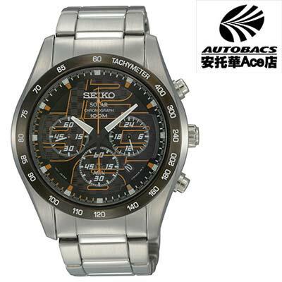 【SEIKO男錶】Solar 急速光影 計時腕錶 V175-0AN0O 橘色 (722187)