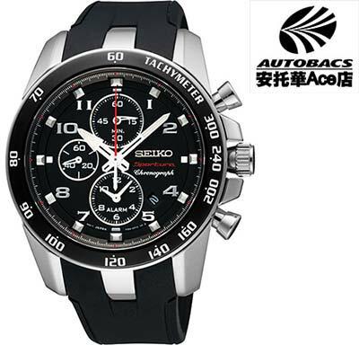 【SEIKO男錶】Sportura 鬧鈴二地時區計時腕錶-黑 7T62-0LC0D(722334)