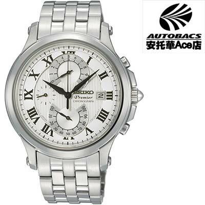 安托華Ace店:【SEIKO男錶】Premier系列雙逆跳計時腕錶7T85-0AC0S(722335)
