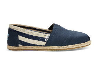 【TOMS】Navy Stripe University Men's Classics【全店免運】