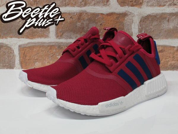 女生 BEETLE ADIDAS NMD R1 J BOOST RUNNER 桃紅 白 襪套 慢跑鞋 S80205 1