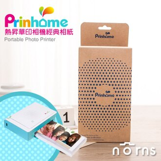 NORNS【Pringo Prinhome 經典相紙】 一盒60張底片 +1捲色帶 印相機 相片沖印機