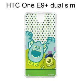 迪士尼透明軟殼 [點點] 毛怪&大眼仔 HTC One E9+ dual sim (E9 Plus)【Disney正版授權】