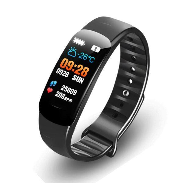 智慧手環 血壓手環 測心率血壓血氧睡眠監測計步防潑水運動健康智慧型手錶C2彩屏智慧手環