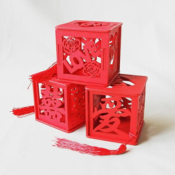 【aifelife】中國風木質囍糖盒創意婚禮喜糖盒新潮創意結婚個性禮盒中式婚禮鏤空婚慶囍宴糖果盒婚禮佈置擺設道具