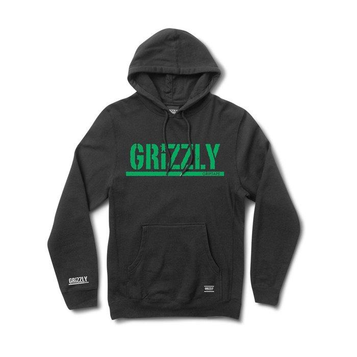 BEETLE GRIZZLY GRIPTAPE ROUGH STAMP HOODIE 小熊 標語 黑綠 帽T 帽TEE - 限時優惠好康折扣