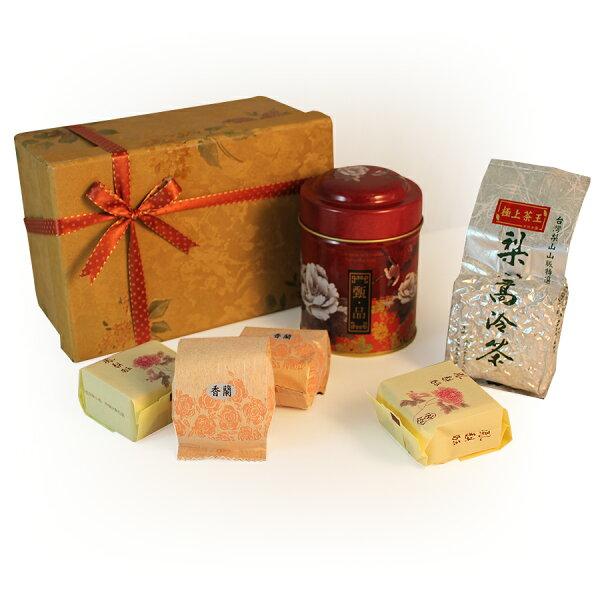 梨山茶(50g入罐)王手工茶點禮盒