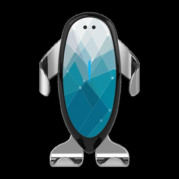 車載無線充電支架車載手機架支架無線充電器出風口卡扣式自動感應通用LX