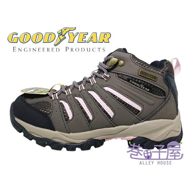* GOODYEAR固特異 野外探索系列 女款靜態防水多功能高统戶外運動鞋 登山鞋 [72033] 咖【巷子屋】
