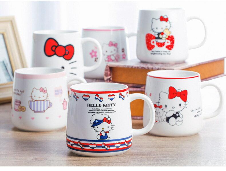Hello Kitty創意咖啡馬克杯情侶陶瓷杯辦公咖啡杯茶水杯子